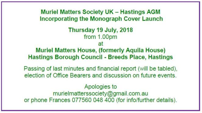 Hastings AGM 18